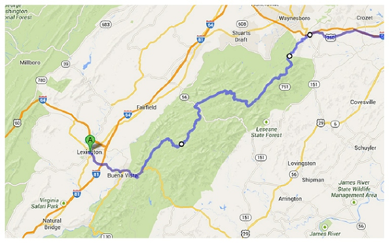 Driving the Blue Ridge Parkway in Virginia - Currently Wandering