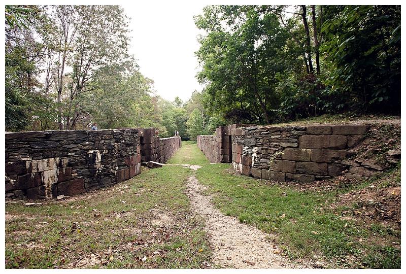 Ruins of Canal Locks at Great Falls National Park