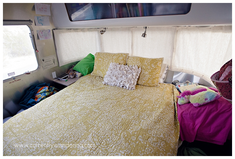 BEFORE Image I Queen to Twin Airstream Bedroom Remodel