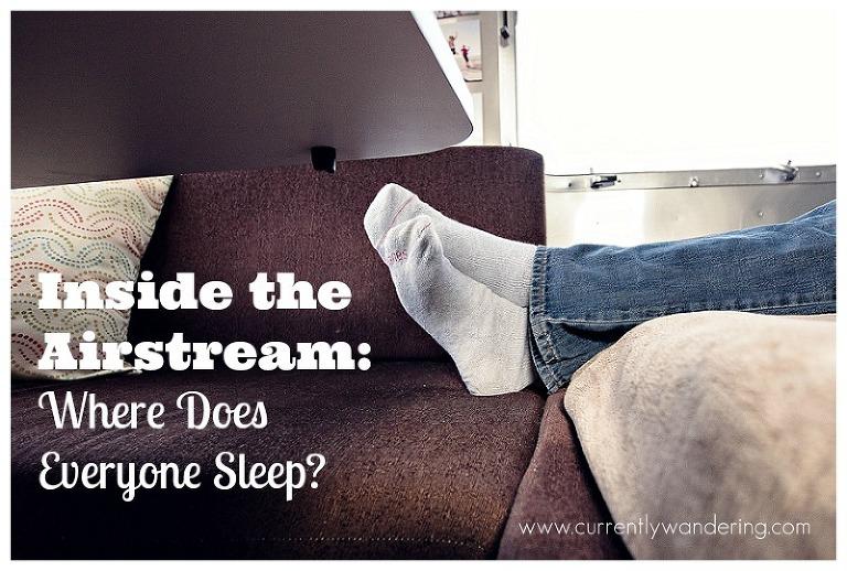 Stupendous Inside The Airstream Where Does Everyone Sleep Currently Creativecarmelina Interior Chair Design Creativecarmelinacom