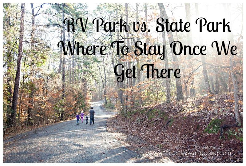 RV Park vs State Park