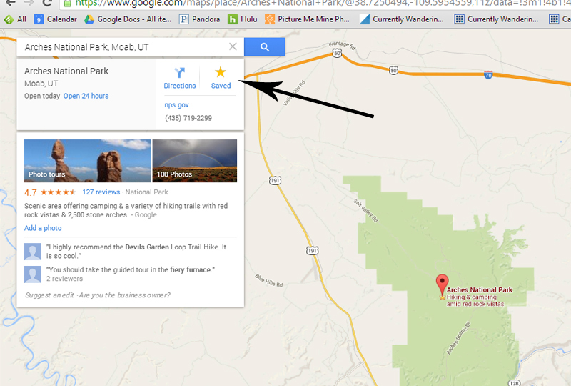 Starring in Google Maps copy