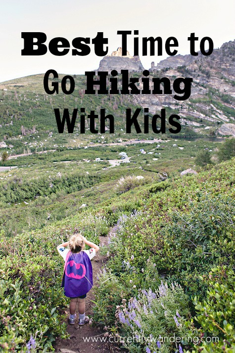 Curious what the best time of day is to take your kids hiking? Check out this post for the answer!