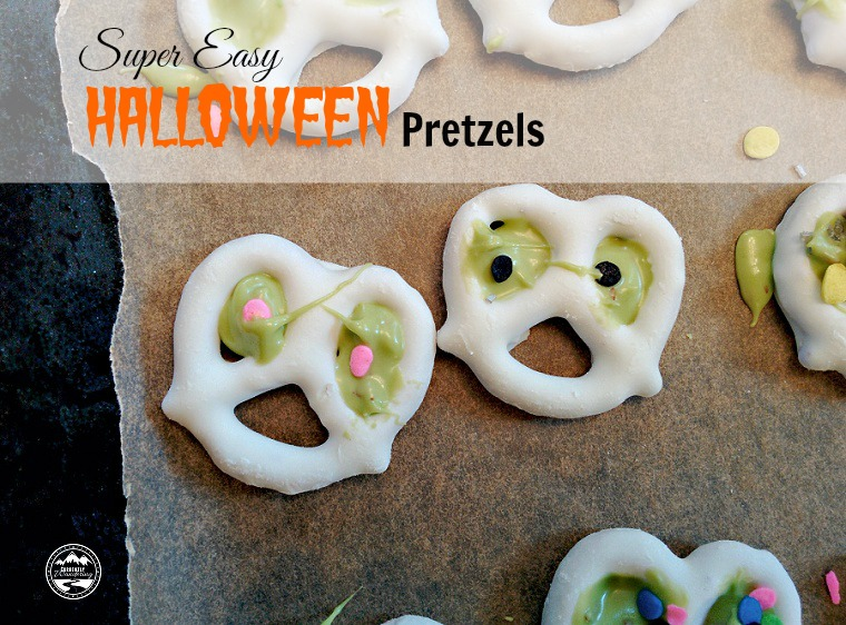 Super Easy Halloween Pretzels