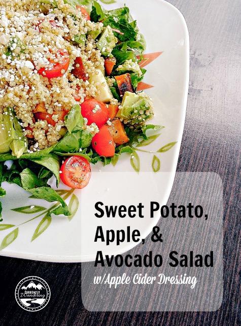 Sweet Potato, Avocado, Apple Salad