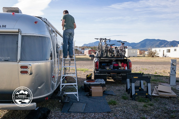 Power Upgrade on our Airstream! Read Part I about mounting the solar panels on the roof!!