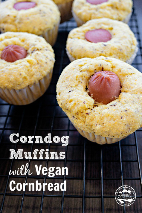 Corndog Muffins are a great way to spice up lunch for your kids.
