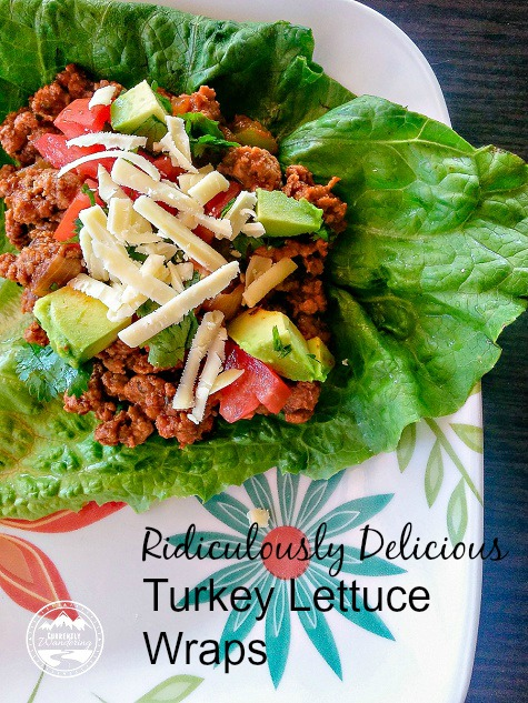 Ridiculously delicious, healthy turkey lettuce wraps. Great for 21DayFix!