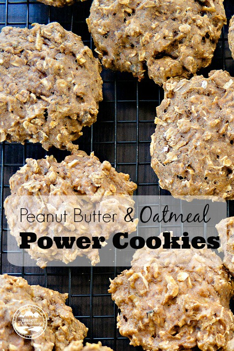 Peanut Butter and Oatmeal Power Cookies
