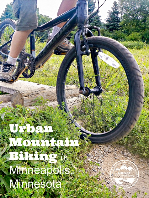 Urban Mountain Biking in Minneapolis was suprisingly awesome. The scoop on the parks we checked out and what we loved!