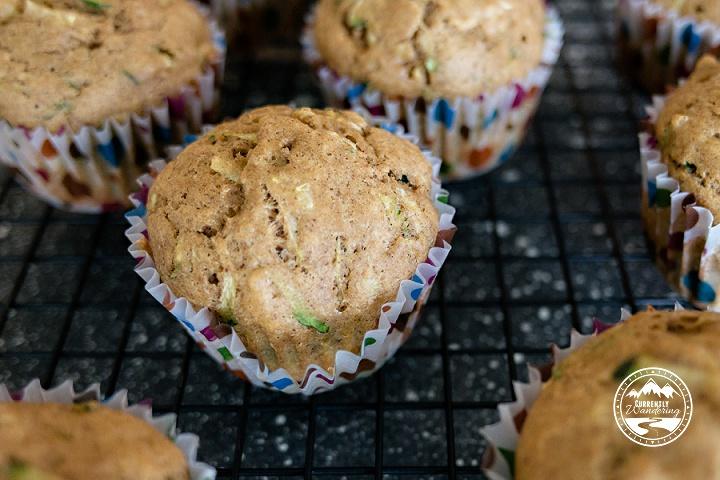 Delicious, HEALTHY zucchini bread muffins. Yum!