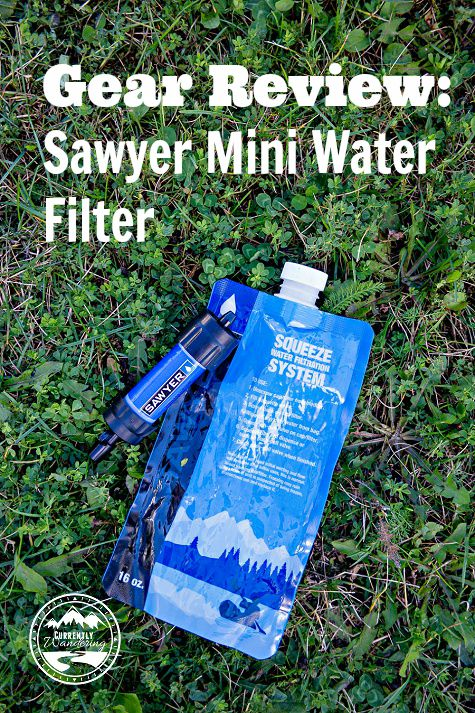 Gear Review of the Sawyer Mini Water Filter. Great for small backpacking trips and emergency preparedness kits!