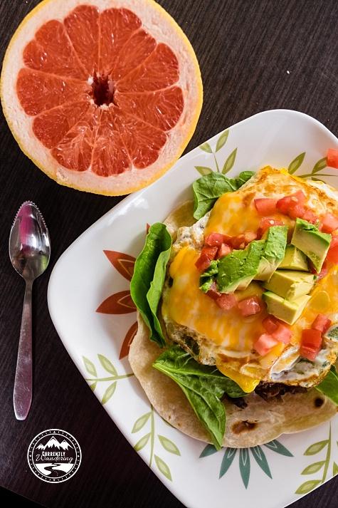 Airstream Kitchen - Huevos Rancheros Recipe from CurrentlyWandering