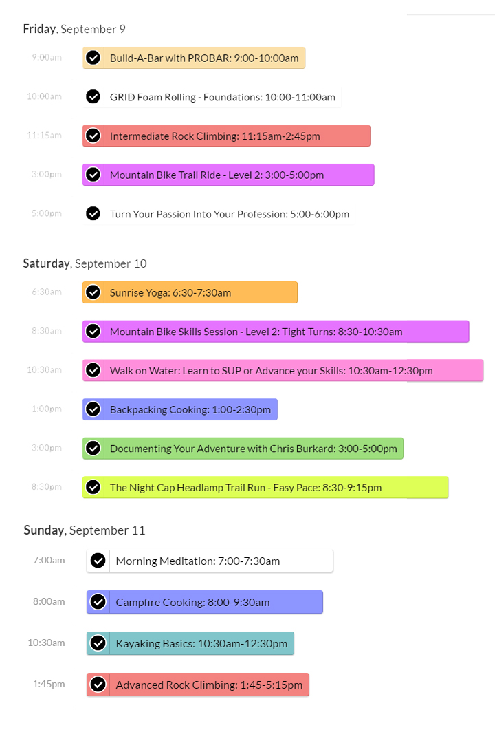 outessa-3-day-schedule