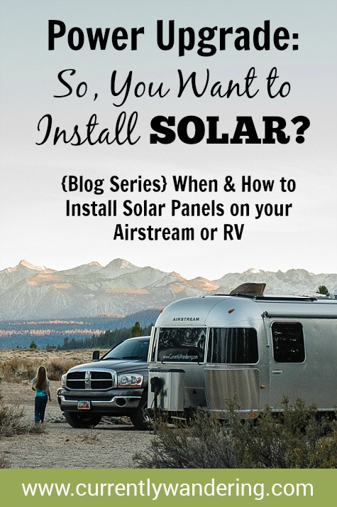 Installing solar panels on your RV or Airstream can be a huge benefit for getting off grid, boondocking and camping. Check out our blog series for DIY instructions and part recommendations. Spoiler: Solar may not be the first step!