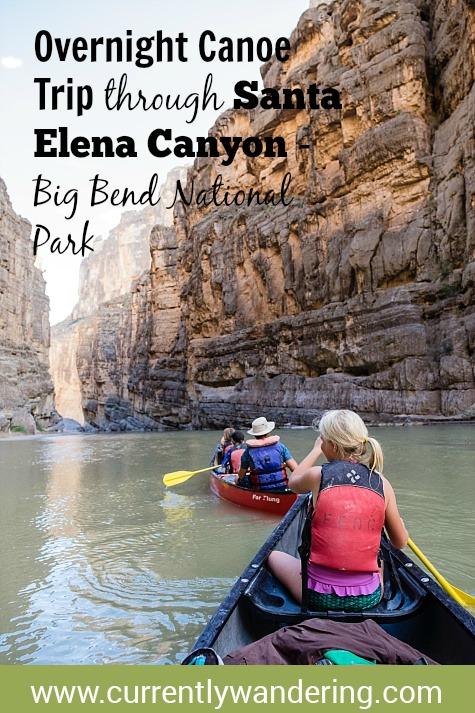 Overnight Canoe Trip in Santa Elena Canyon - Big Bend National Park